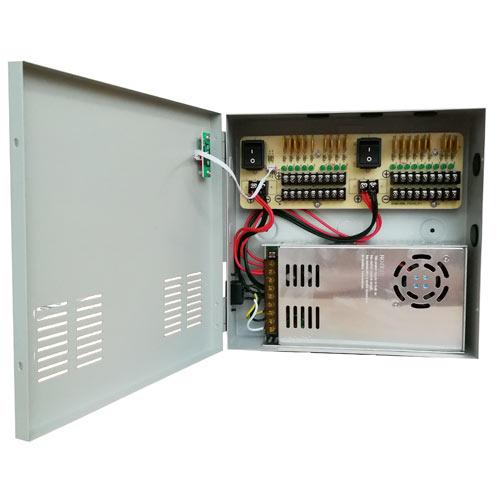 W Box 18 Ch. 30AMP CCTV Power Supply