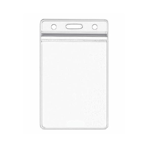 "W Box Vert Card Holder 2-3/8""x 3-3/8""x.042""w/Chainhole"