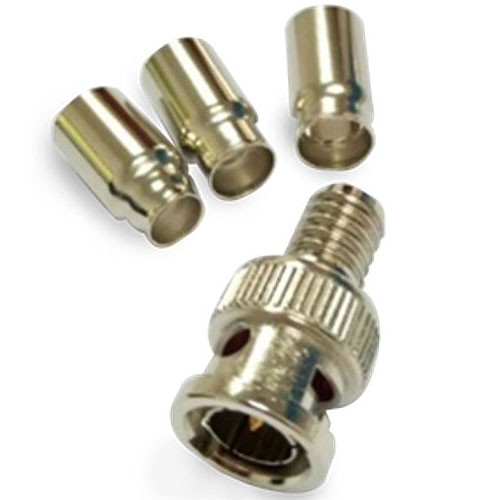 W Box 0E-BNCCR75TP BNC Plug Crimp 75 OHM, 10 Pack