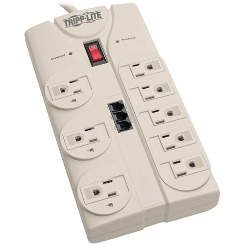 TV/Modem Surge Protector, 8 Outlet, 2820 Joules, 8' Cord