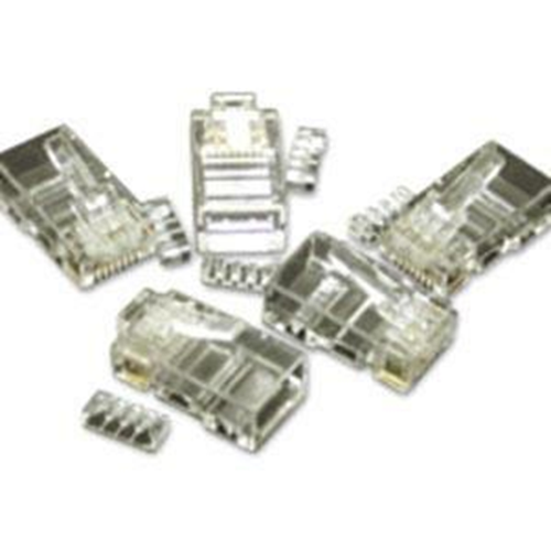 50PK CAT5E RJ45 MODULAR PLUG FOR ROUND SOLID/STRANDED CABLE