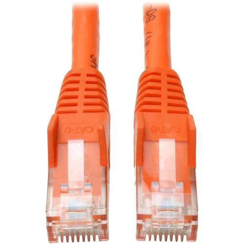 10FT CAT6 GIGABIT ORANGE SNAGLESS PATCH CABLE RJ45
