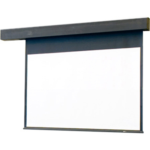 Rolleramic Motorized Projection Screen - Wall or Ceiling Mounted - Non-Tensioned - 70 x 70 - 99 Diagonal - Square Format - Matte White