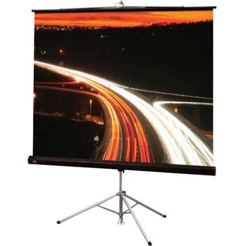 Diplomat/R Portable Tripod Projection Screen - 50 x 66.5 - 84 Diagonal - Video Format (4:3 Aspect) - Matte White with Black Carpet Case