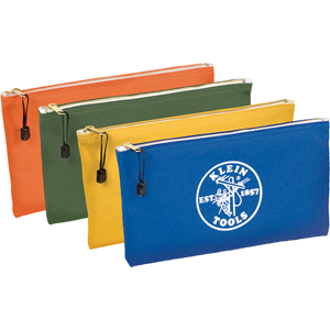 Klein Tools Zipper Bags-Canvas, 4-Pack