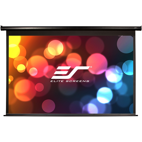 """The Elite VMAX 121""""(16:9) nominal diagonal electric projection screen is perfect for home theater and conference room presentation. 77""""x109"""" screen size; 59""""x105"""" Viewing. 12v trigger function Comes with IR remote. Format:HDTV(16:9); Black Case."""
