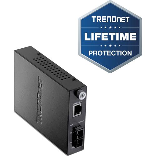 TRENDnet Intelligent 1000Base-T to 1000Base-FX Single Mode SC Fiber Converter