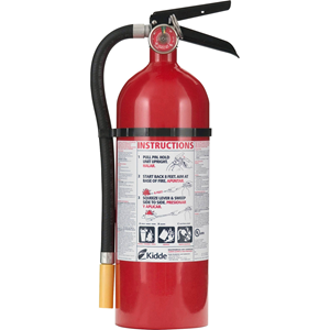 Fire Extinguisher, Rechargeable, Impact Resistant, 5lbs, Red