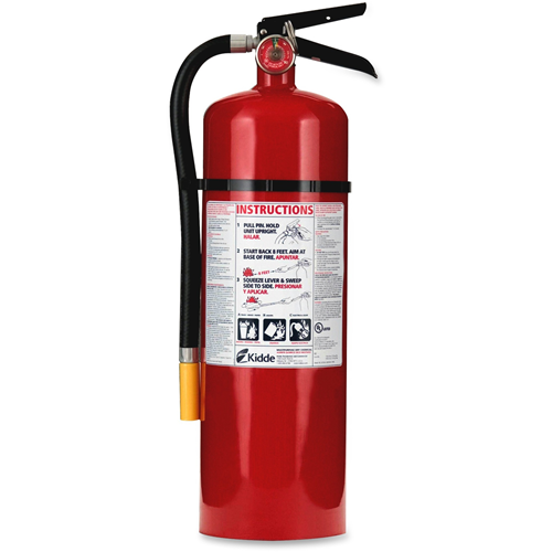 Fire Extinguisher, Rechargeable, Impact Resistant,10 lbs,Red