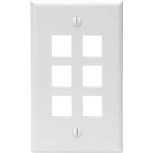 Leviton (41080-6WP) Faceplate & Mounting Box
