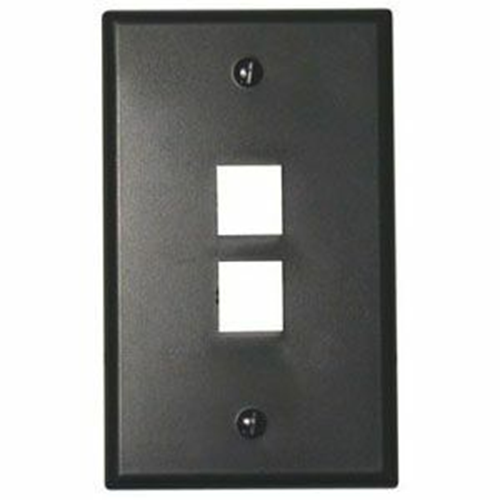 Leviton QuickPort 2 Socket Faceplate