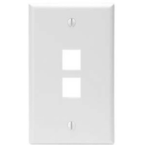 Leviton QuickPort 2 Socket Faceplate