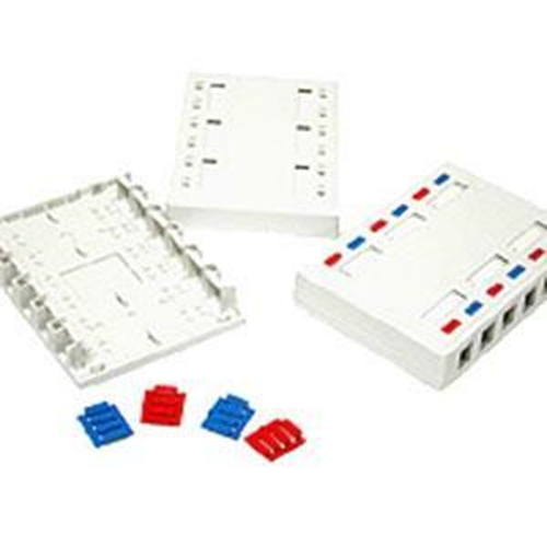 CABLES TO GO 12-PORT KEYSTONE SURFACE MOUNT BOX - WHT