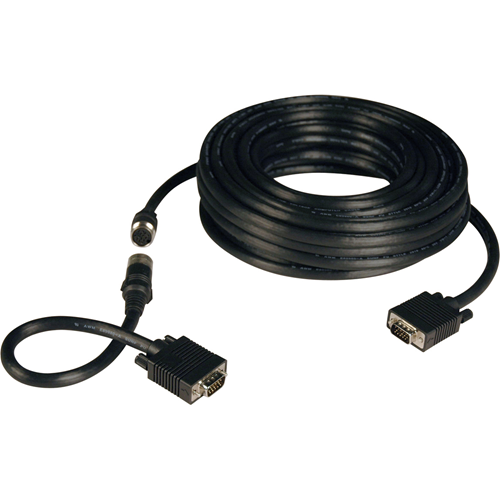 Tripp Lite 100ft VGA Coax Monitor Cable Easy Pull with RGB High Resolution HD15 M/M 100'