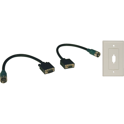 EASY PULL TYPE-A VGA CONNECTOR KIT W/ AUDIO & WALLPLATE