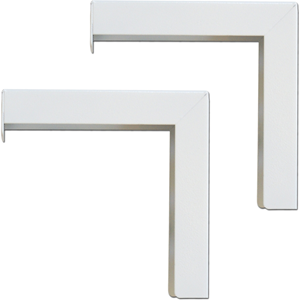 6PAIR OF WHITE L BRACKETS FOR DUAL WALL OR CEILING SCREEN MOUNTS