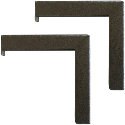 6PAIR OF BLACK L BRACKETS FOR DUAL WALL OR CEILING SCREEN MOUNTS