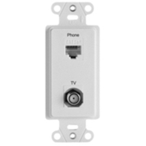 Legrand-On-Q Pre-Configured 2-Port Strap, Phone/TV, White