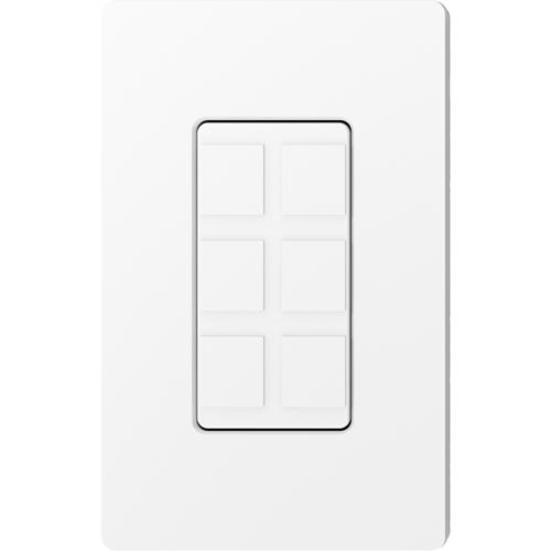 Claro 6-Port Frame White