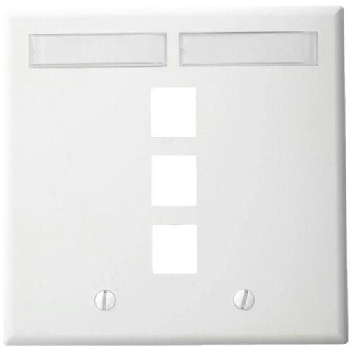 Leviton QuickPort 3 Socket Faceplate