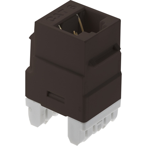 """""""Category 6 RJ45 T568-A/B, Brown"""""""