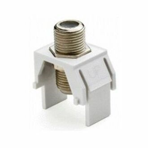 Legrand-On-Q Non-Recessed Nickel F-Connector, Ivory (M20)