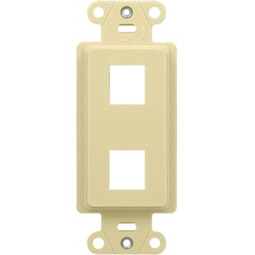 Legrand-On-Q 2-Port Decorator Outlet Strap, Light Almond