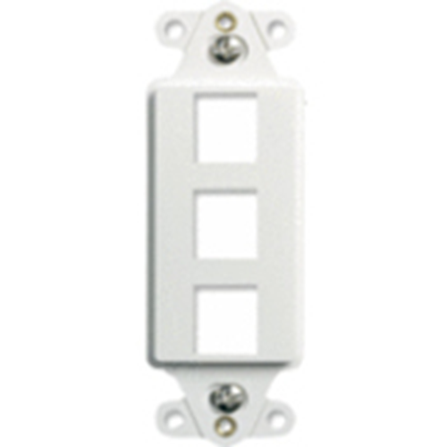 """Decorator Strap 3-Port, Wht"""