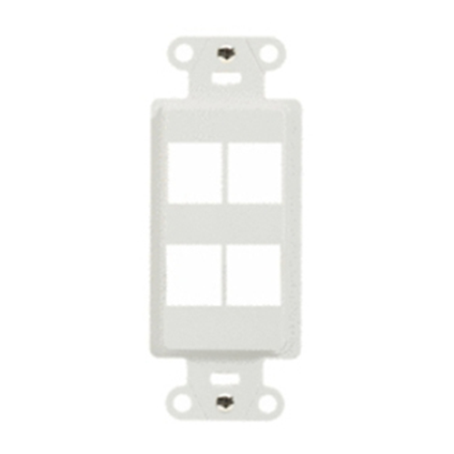 Legrand-On-Q 4-Port Decorator Outlet Strap, White