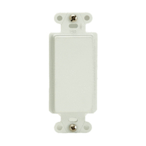 Legrand-On-Q Blank Decorator Outlet Strap, White