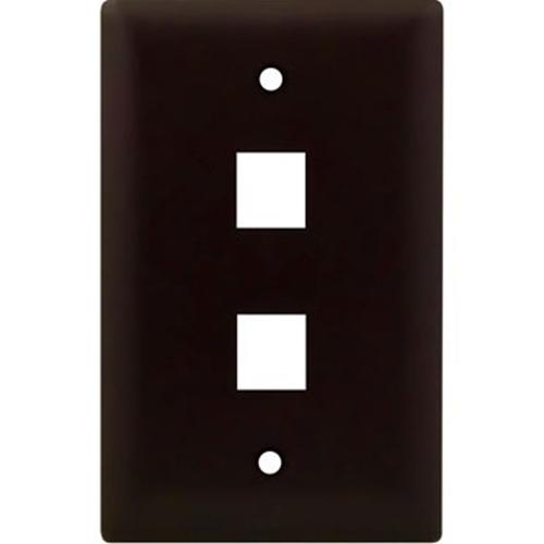 Legrand-On-Q 1-Gang, 2-Port Wall Plate, Brown