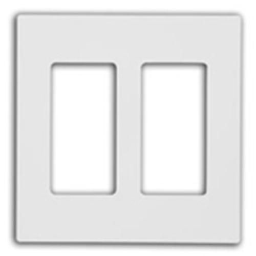 Leviton 2-Gang Screwless Decora Wallplate