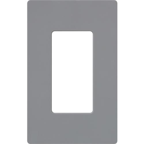 1-Gang Gloss Decora Faceplate Gray