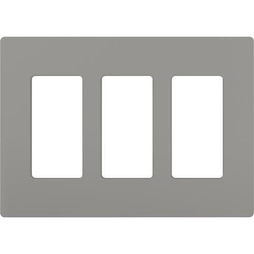 Lutron Claro CW-3 Three Socket Wallplate