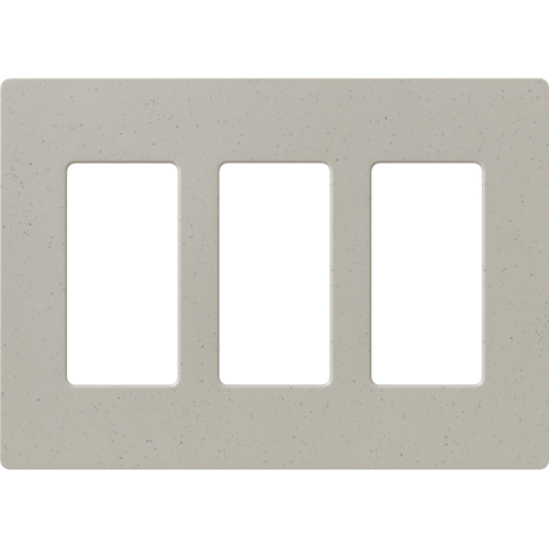 3-Gang Satin Decora Faceplate Stone