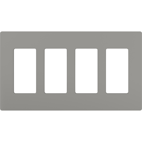 4-Gang Gloss Decora Faceplate Gray