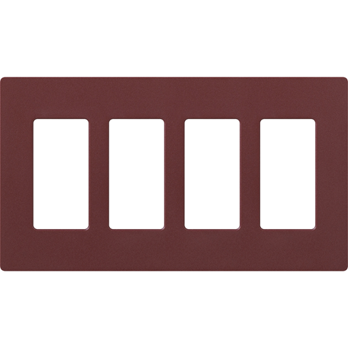 4-Gang Satin Decora Faceplate Merlot