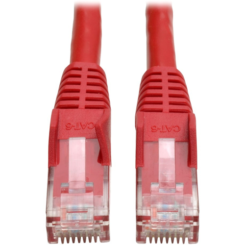 Tripp Lite 3ft Cat6 Gigabit Snagless Molded Patch Cable RJ45 M/M Red 3'