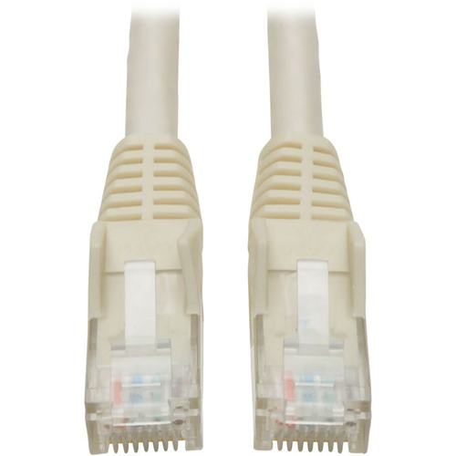 Tripp Lite 7ft Cat6 Gigabit Snagless Molded Patch Cable RJ45 M/M White 7'