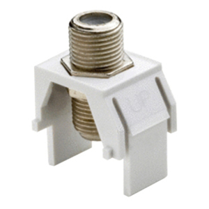 Legrand-On-Q Non-Recessed Nickel F-Connector, Nickel 50-Pack
