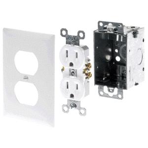 AC Power Kit (Electrical Box, White Dupl