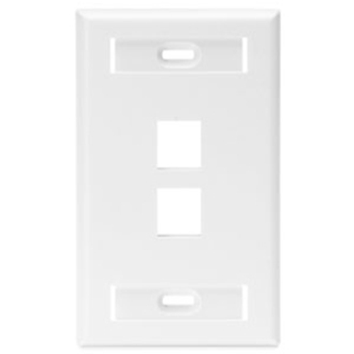Leviton QuickPort Single-Gang wall plate