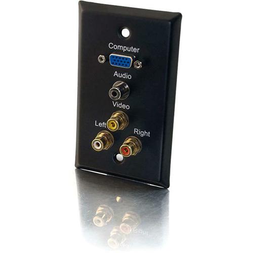 CABLES TO GO WP SGL STL BLK HD-15,3.5,A/V