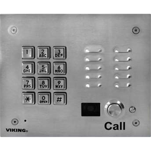Viking K-1705-3-EWP Entry Phone with Keypad and Enhanced Weather Protection