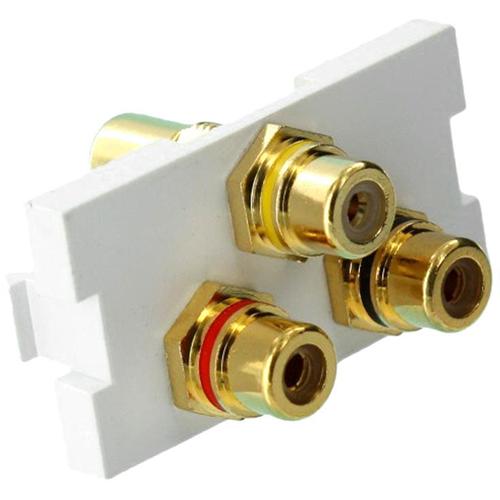 Leviton QuickPort 41292-3RW Audio/Video Adapter