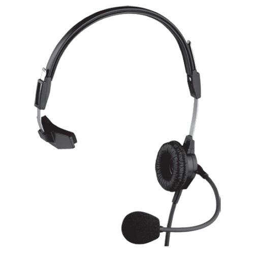 PH88R5 Single-Sided Lightweight Headset w/ Flexible Dynamic Boom Mic (A5M-5 Pin Male Connector)