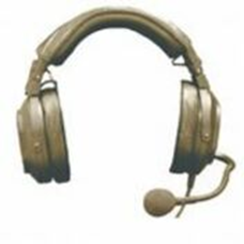 HR1PT Single-Sided Medium-Weight Passive Noise Reduction Headset (Pigtail = Bare Wires for Custom Ap