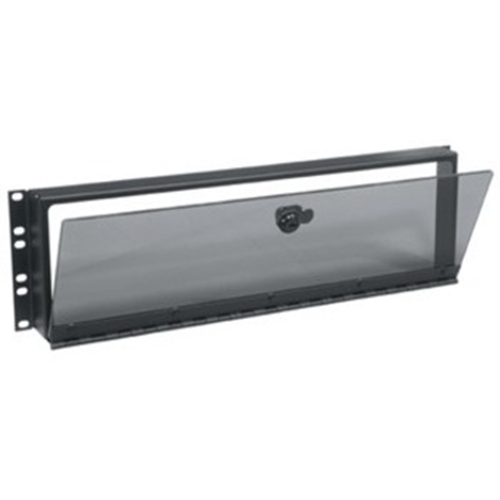 Middle Atlantic Security Cover, 3 RU, Hinged Plexi