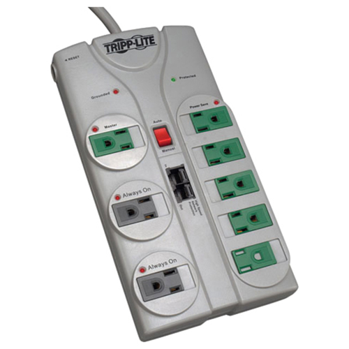 Surge Suppressor Green, 8 Outlet, Tel/Eth, 2160 Joules, GY