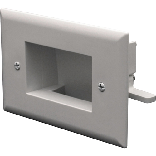 DATACOMM ELECTRONICS 45-0009-WH Easy-Mount Slim-Fit Recessed Low-Voltage Cable P